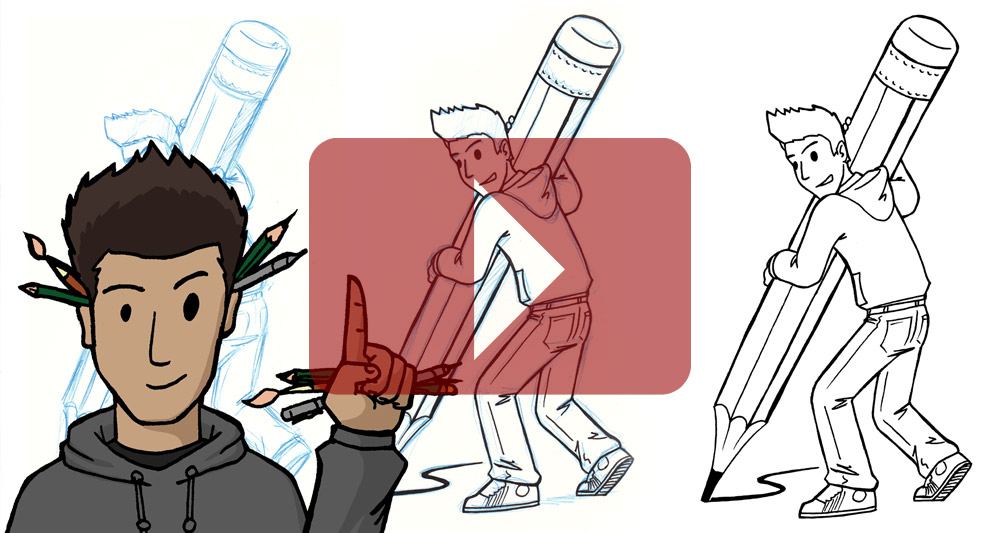 Warum man Comics mit blauem Stift skizziert
