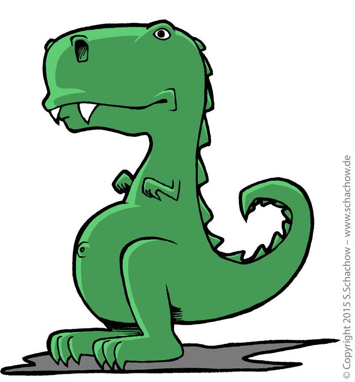 Tyrannosaurus Rex Zeichnung