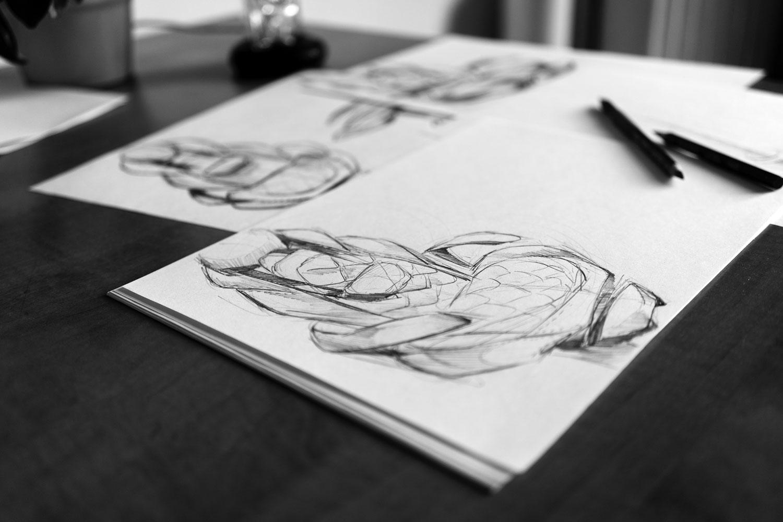Papier Zeichenwerkzeuge Zeichnen Lernen