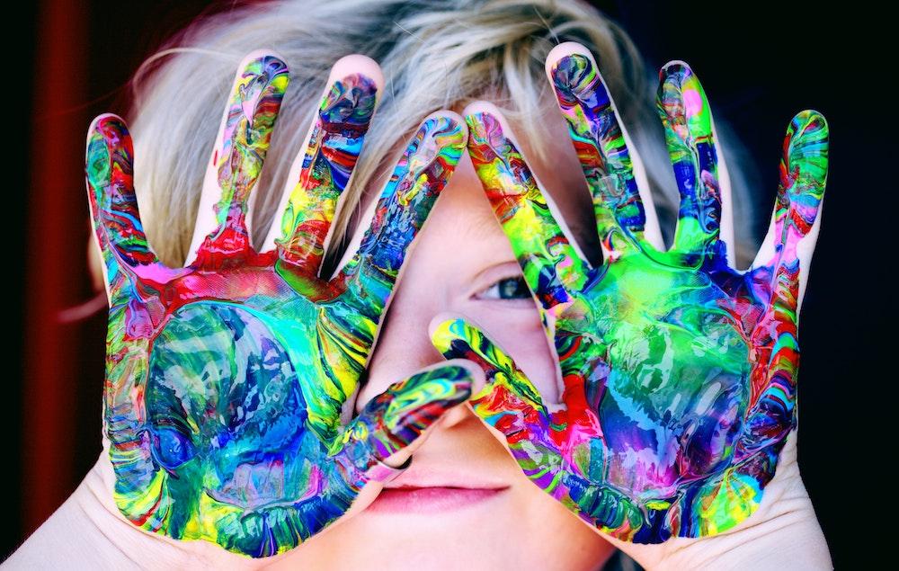 Kind-Kreativ-werden
