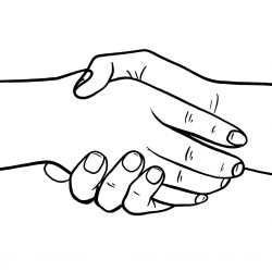 Handshake Handshake Drawing