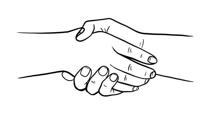 Handshake Handshake Drawing