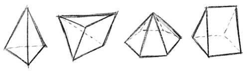 Formen 3D Zeichnen Pyramide