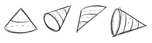 Formen 3D Zeichnen Kegel