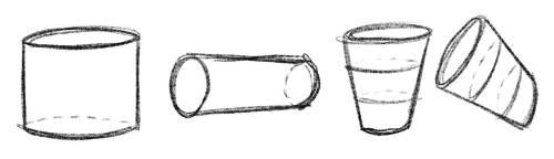 Formen 3D Zeichnen Zylinder