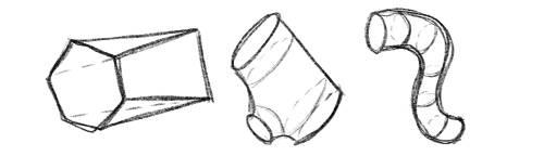 Formen 3D Zeichnen Freiform