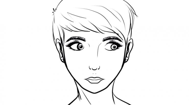 Gesicht symmetrisch Zeichnen
