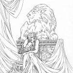 Tusche-Zeichnung von Witchblade