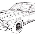 Zeichnung Ford Mustang