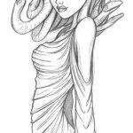Bleistift-Zeichnung von Medusa