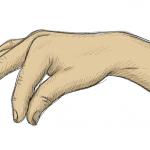 Hand-Etwas-Halten-Zeichnung-01-Buntstift