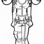 Zeichnung Mädchen Gothik