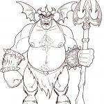 Zeichnung von einem Comic-Dämon
