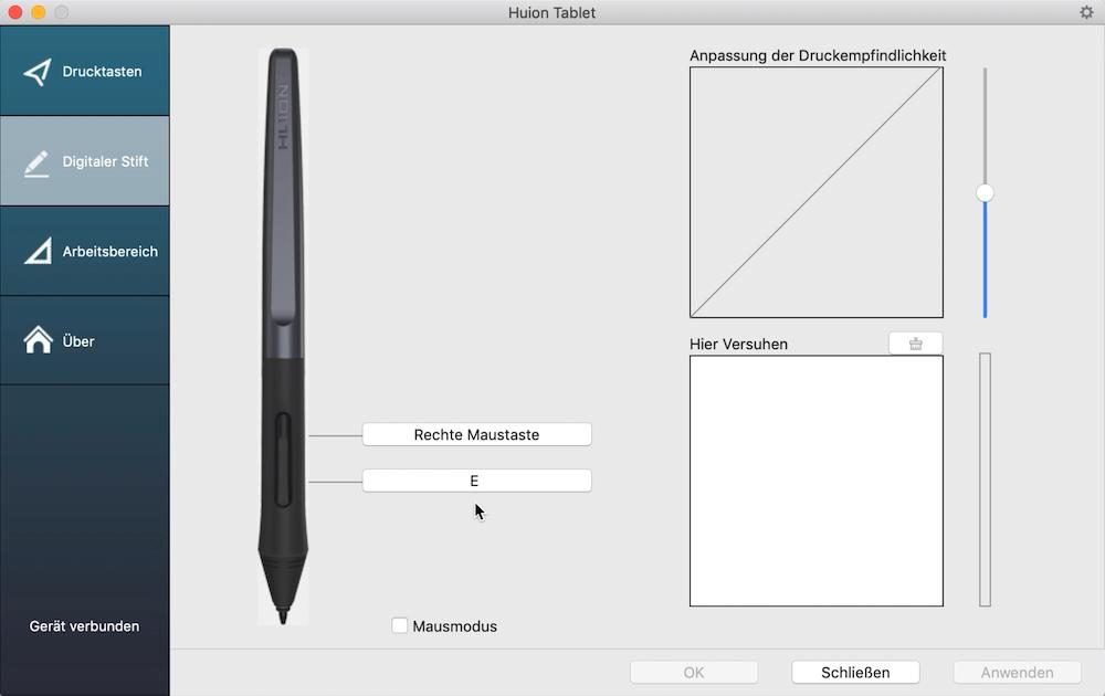 Stift einrichten