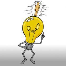 Idee Glühbirne Mensch Zeichnung Idee Zeichenidee