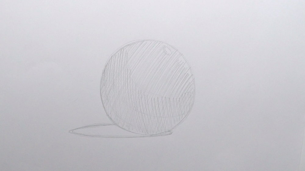 Kugel zeichnen Schraffur
