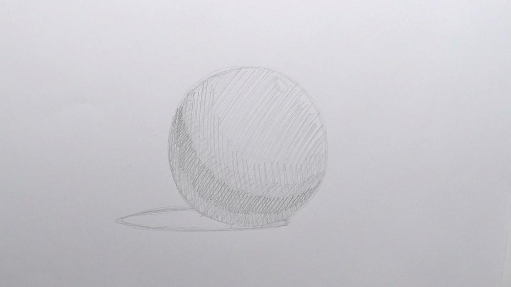 Kugel zeichnen Schraffur 04