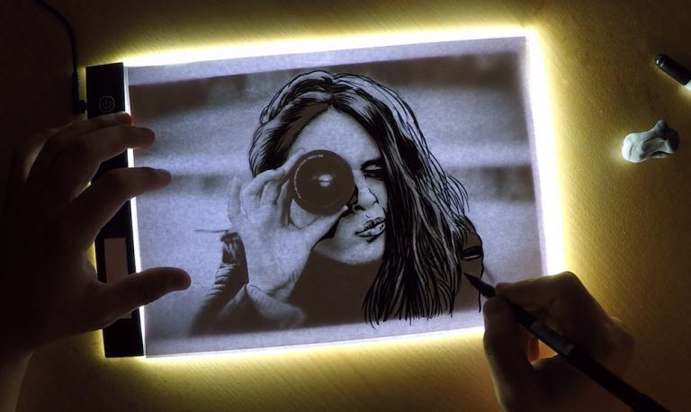 Bild oder Foto mit Lichtkasten nachzeichnen