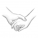 Hands Drawing - Hold Hands - Pencil