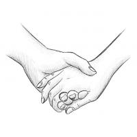 Hände Zeichnung – Händchen Halten – Bleistift