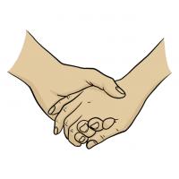 Hände Zeichnung – Händchen Halten – Comic