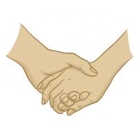 Hände Zeichnung – Händchen Halten – Illustration