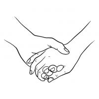 Hände Zeichnung – Händchen Halten – Linien