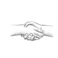 Hände Zeichnung – Hände Schütteln – Bleistift