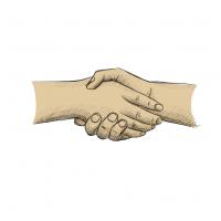 Hände Zeichnung – Hände Schütteln – Buntstift
