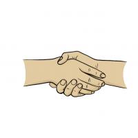 Hände Zeichnung – Hände Schütteln – Comic