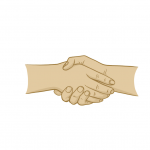 Hands Drawing - Hands Shake - Illustration