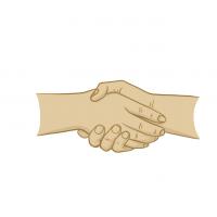 Hände Zeichnung – Hände Schütteln – Illustration