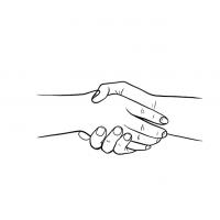 Hände Zeichnung – Hände Schütteln – Linien