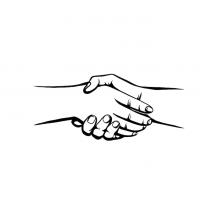 Hände Zeichnung – Hände Schütteln – Schwarzweiß