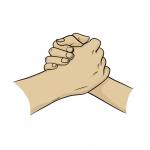 Hands drawing - handshake - comic