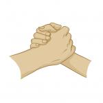 Hands drawing - handshake - illustration