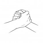Hands drawing - handshake - lines