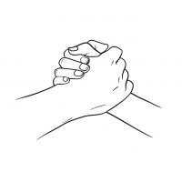 Hände Zeichnung – Handschlag – Linien