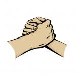 Hands drawing - handshake - Manga
