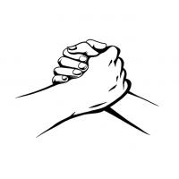 Hände Zeichnung – Handschlag – Schwarzweiß