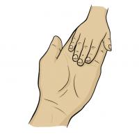 Hände Zeichnung – Mutter Kind – Comic