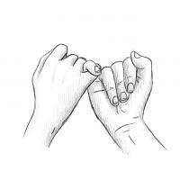 Hände Zeichnung – Versprechen – Bleistift