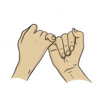 Hände Zeichnung – Versprechen – Comic