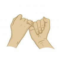 Hände Zeichnung – Versprechen – Illustration