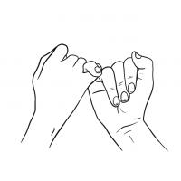 Hände Zeichnung – Versprechen – Linien