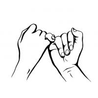 Hände Zeichnung – Versprechen – Schwarzweiß