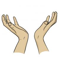 Hände Zeichnung – Zum Himmel – Comic