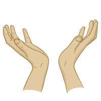 Hände Zeichnung – Zum Himmel – Illustration