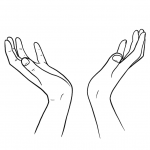 Hands Drawing - To Heaven - Lines