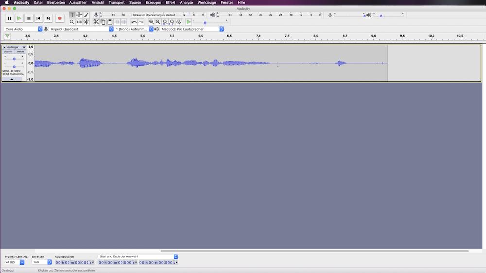 Audacity Audio Aufnahmen bearbeiten Software